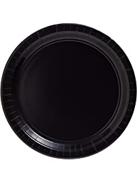 """amscan Big Party Pack Jet Black Paper Plates 