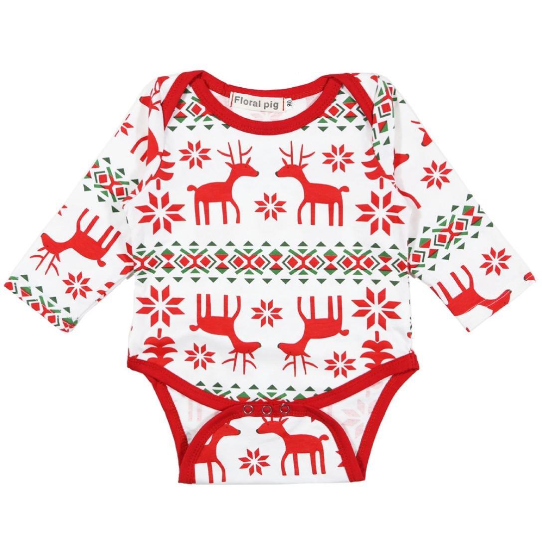 Baby Sleepsuit,Fulltime(TM) Newborn Baby Print Romper Jumpsuit Christmas Outfits YLK70906593