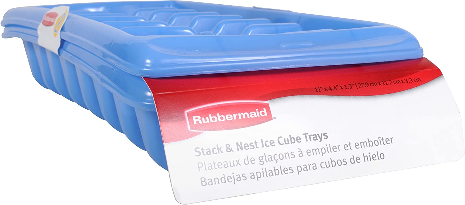 Rubbermaid Ice Cube Tray Set, Blue, Pack of 2 MFG2879RDPERI
