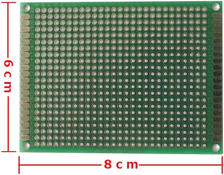 6x8cm PCB Prototype Printed Circuit Board Double-sided Strip Breadboard 5Pcs 33