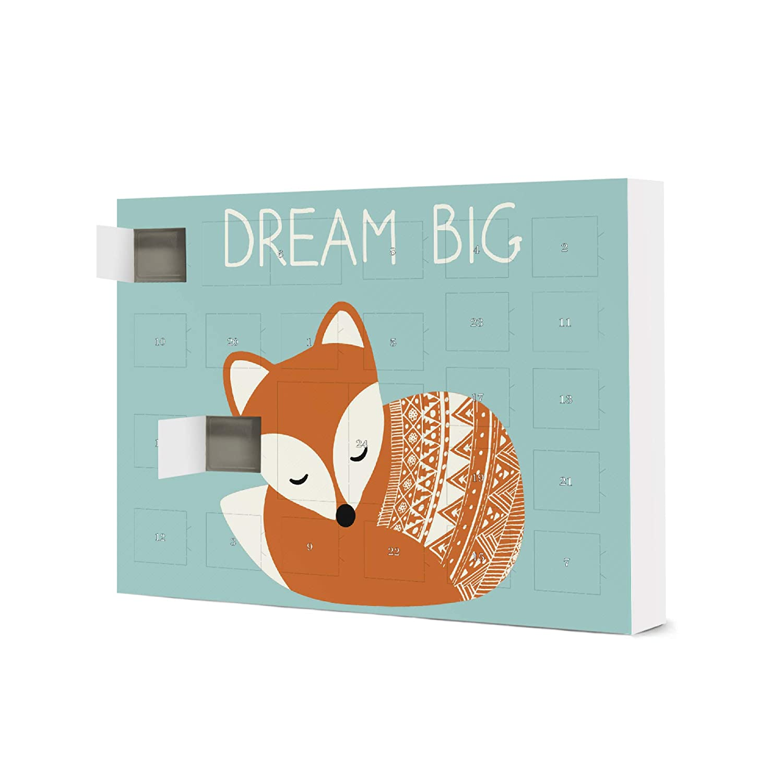artboxONE Adventskalender XXL mit Pralinen von Ferrero Dream Big Fuchs Adventskalender F/ür Kinder