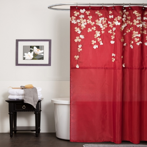 Lush Decor Flower Drop Shower Curtain, 72-Inch by 72-Inch...