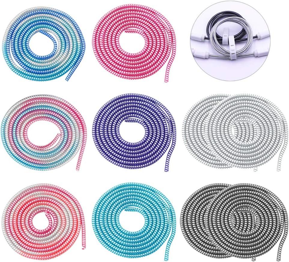 110 cm Protectores de Cable de Alambre Colorido en Espiral Cable Bricolaje 10PCS YOSASEN Protector Auricular Universal 8 Colores