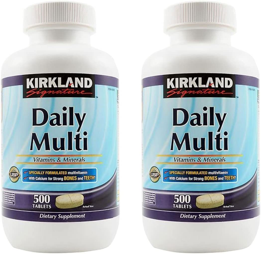 Kirkland oOikr, Daily Multi Vitamins Minerals 500 Count Pack of 2