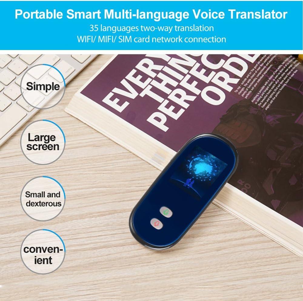 WIFI pour lapprentissage Voyage Shopping Business Aibecy Traducteur de voix multi-langue Traducteur portable Support 35 Langues Interpr/étation bidirectionnelle en temps r/éel