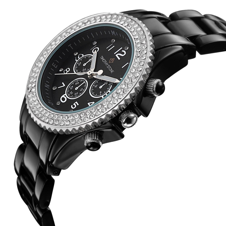 Timothy Stone collection AMBER CERAMIC - reloj mujer de cuartzo, color Negro/Plata: Amazon.es: Relojes