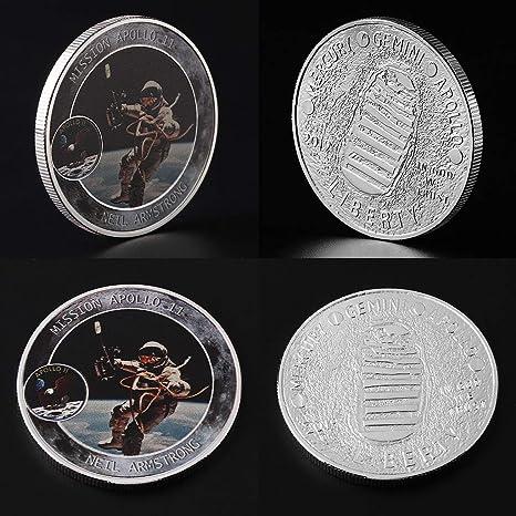 América, astronautas en la luna de la colección de monedas de ...