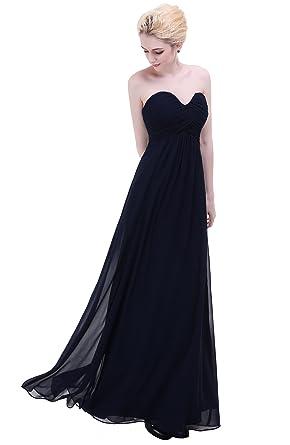 Esvor Sweetheart Bridesmaid Chiffon Prom Dress Long Evening Gown Navy 6 6aad8cdbe810