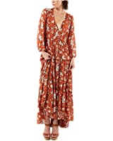 Manggo Fashion marca vestidos florais impressão maxi longo boho elegante vestidos dress manga comprida ruffles férias