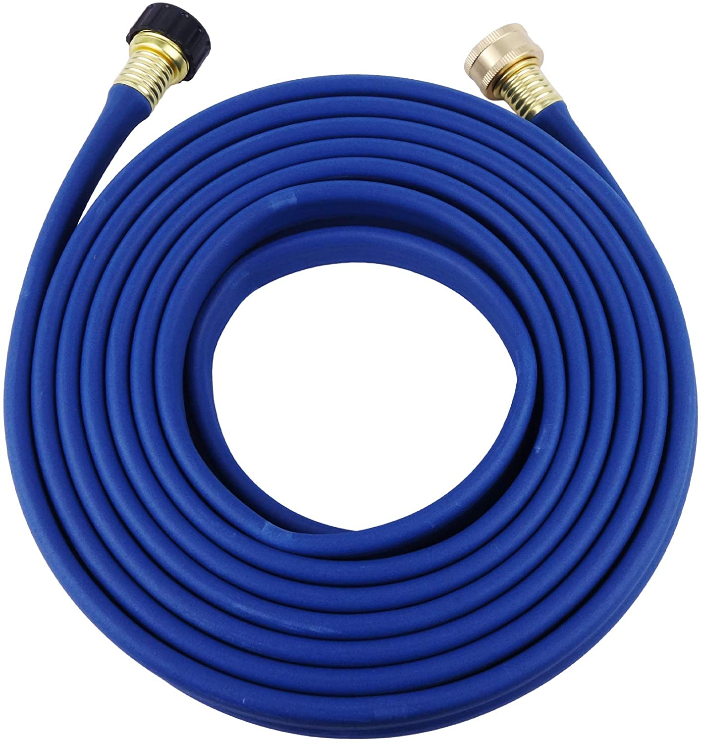 H2O WORKS Garden Flat Soaker Hose 1/2 in x 25ft,More Water Leakage, Heavy Duty Metal Hose Connector Ends, Perfect Delivery of Water,Garden Flower Bed and Vegetable Patch,Landscaping, Savings 80% Water