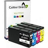 4 XXL Colour Direct Compatible Cartouche D'encres Pour Epson Oeuvres avec Pro WP4015 WP4025 WP4025DW WP4095 WP4500 WP4515 WP4525 WP4525DNF WP4535 WP4535DWF WP4545 WP4545DTWF WP4595 T7011 T7012 T7013 T7014 3400 Pages