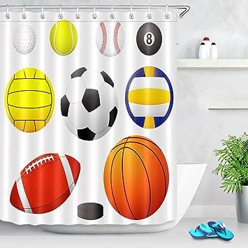 Pelotas deportivas Cortina de ducha golf, tenis, béisbol, billar, waterpolo, fútbol