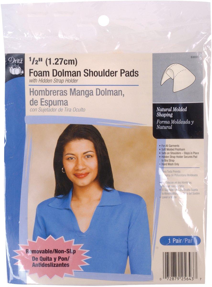 Dritz 53085 1/2-Inch Foam Dolman Shoulder Pads 2/Package-Beige