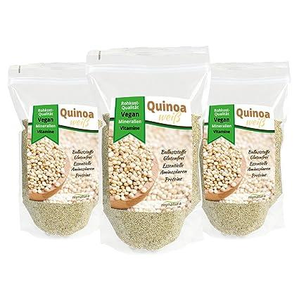 mynatura quinoa Semillas en Premium de calidad (3 unidades x 1000 g Bolsa)