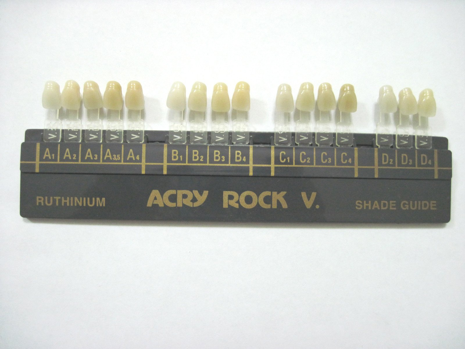 Acry Rock Dental Shade Guide for Whitening and
