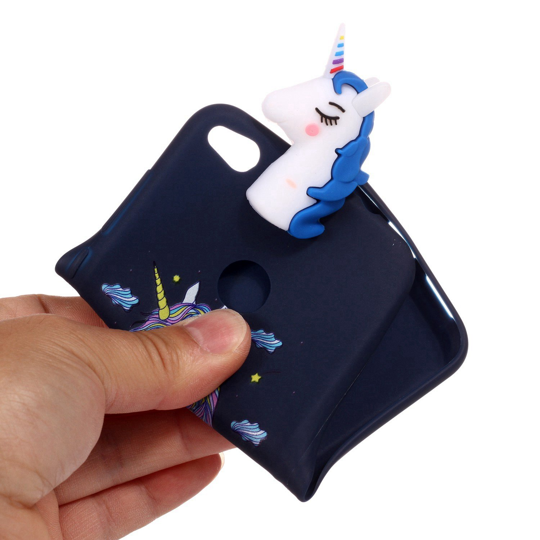 Einhorn Huawei P8 Lite 2017 Xmas H/ülle Blau Huawei P8 Lite 2017 Handyh/ülle HUDDU Transparente Weihnachten Schutzh/ülle TPU Silikon Cover D/ünn Protective Case 3D Karikatur Muster Christmas