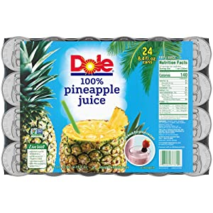Dole Juice, 100% Pineapple, 8.4oz, 24 cans