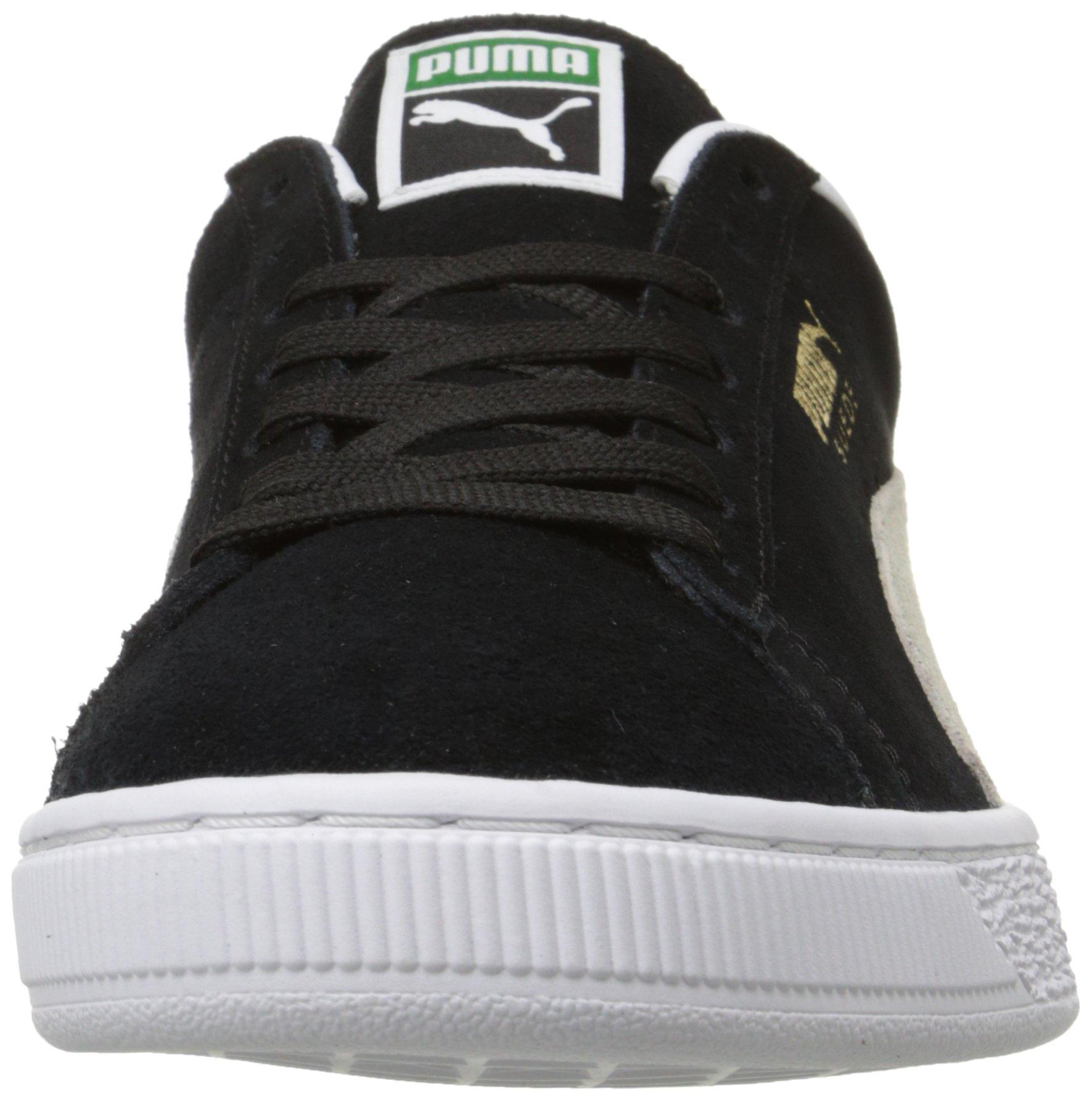 PUMA Suede Classic Sneaker,Black/White,9.5 M US Men's by PUMA (Image #4)
