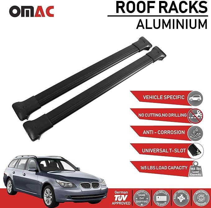 Omac Aluminium Schwarz Dachträger Dachgepäckablage Relingträger Für Yeti 2009 2017 Dachgepäckträger Mit TÜv Abe Auto