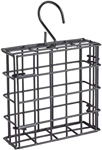 More Birds 38092 Suet Feeder, Single Cake, black