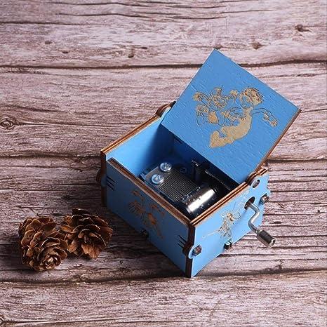LYXL Caja Musica Niña Carved Queen Music Box Star Wars Juego De Tronos Castle In The Sky Caja De Música De Madera con Manivela Digimon: Amazon.es: Hogar