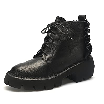 Combat Boots For Women Flouncing Decorated Platform High Heel Boots Military Booties
