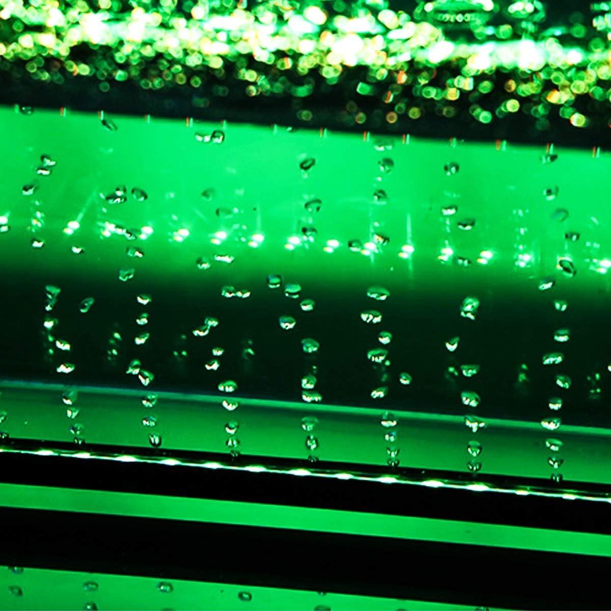 Wallfire 16 Colores Control Remoto 5050 RGB Impermeable Burbuja de Aire L/ámpara LED Acuario Fish Tank Light Luz Sumergible Size : 16cm - 9LED