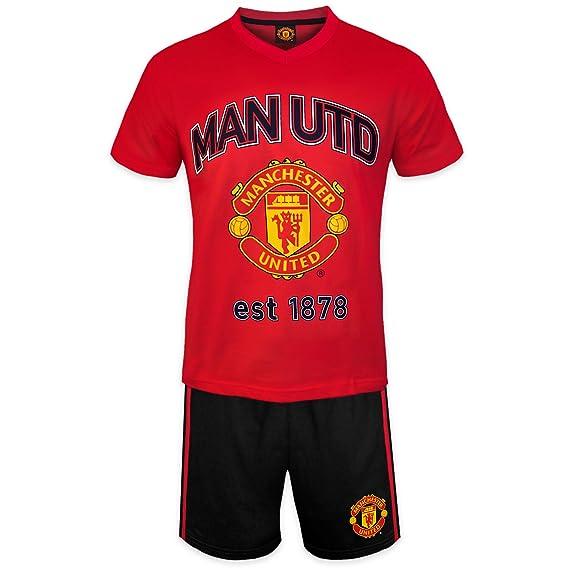 Manchester United FC - Pijama corto para hombre - Producto oficial: Amazon.es: Ropa y accesorios