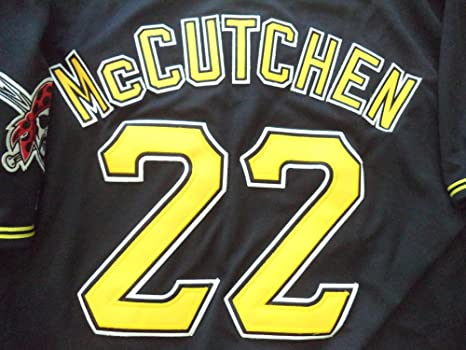 best website 74c75 0ad68 ANDREW MCCUTCHEN PITTSBURGH PIRATES BLACK/GOLD JERSEY SIZE ...