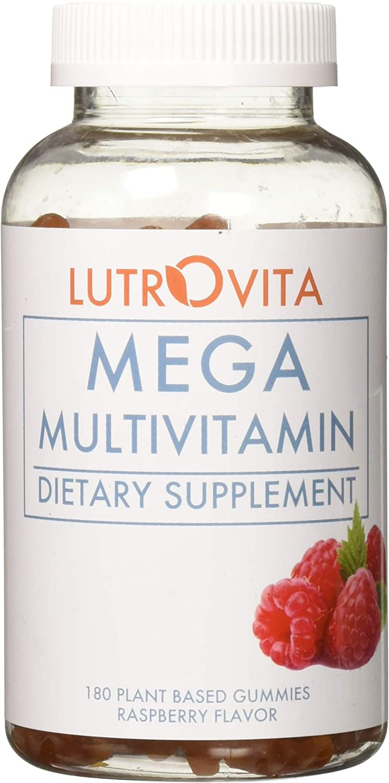 Lutrovita Mega Multivitamin Gummy Raspberry Flavor, 180 Count