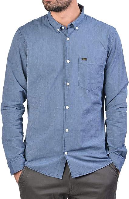 Lee - Camisa Rayas Slim fit con Botones: Amazon.es: Ropa y accesorios