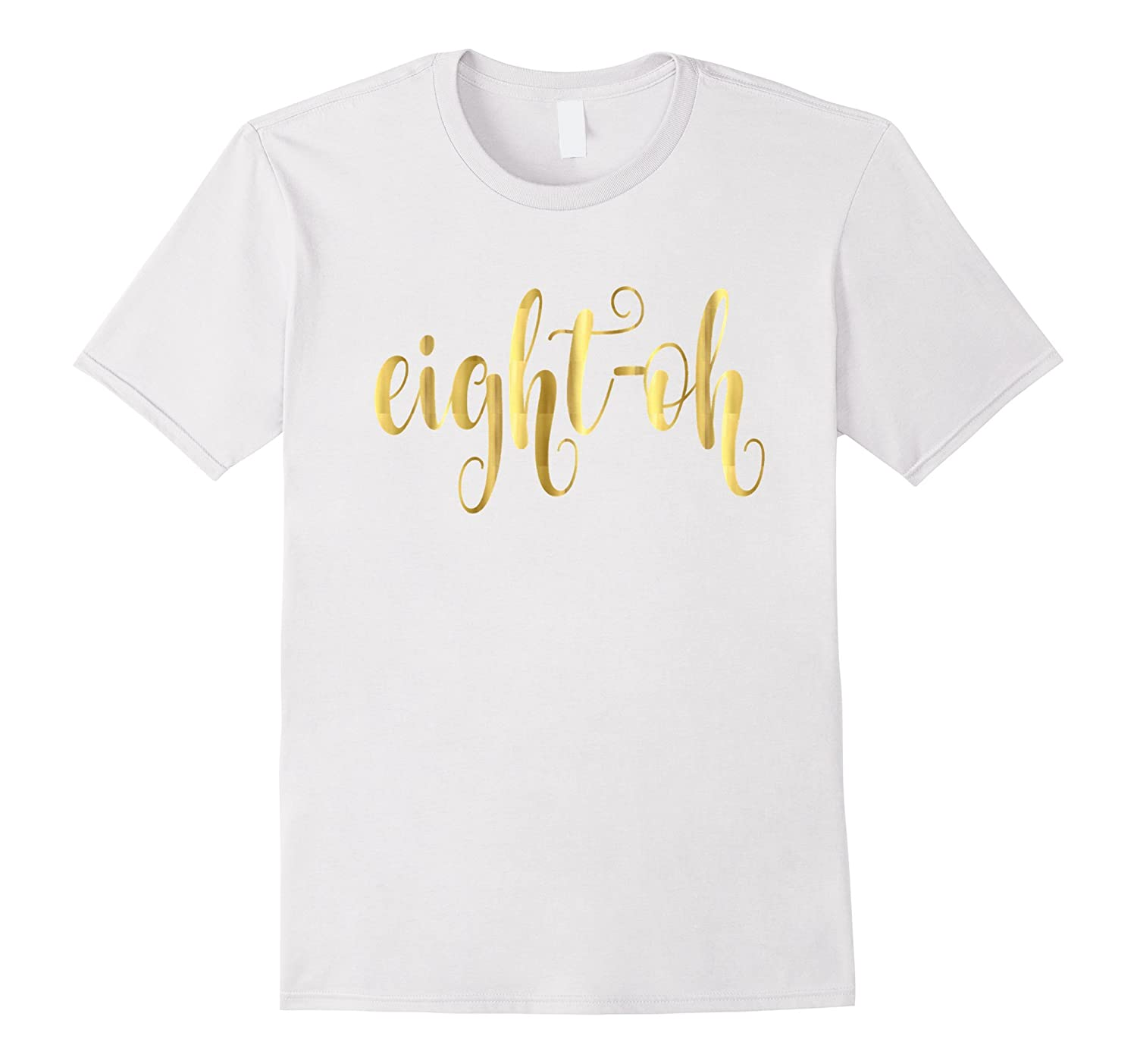 80th Birthday Shirt Gift Milestone Gold Big Eight Oh Eighty PL