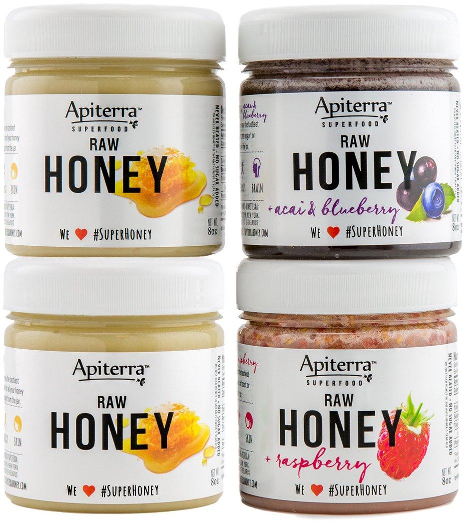 HEALTHY BREAKFAST Honey Gift set - Honey Spread, Jam & Jelly Gift Set - 32 Ounce by Apiterra