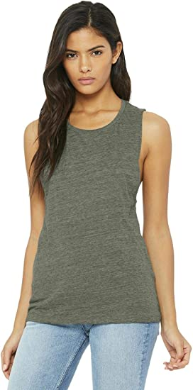 Bella Canvas Flowy Racerback Tank Top Strong Tomorrow Gold Vinyl Printed Workout Tank Tops