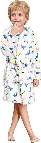 Vestaglia squalo//Elefanti//Unicorno LOLANTA Morbido Accappatoio Bambini e Ragazzi con Cappuccio