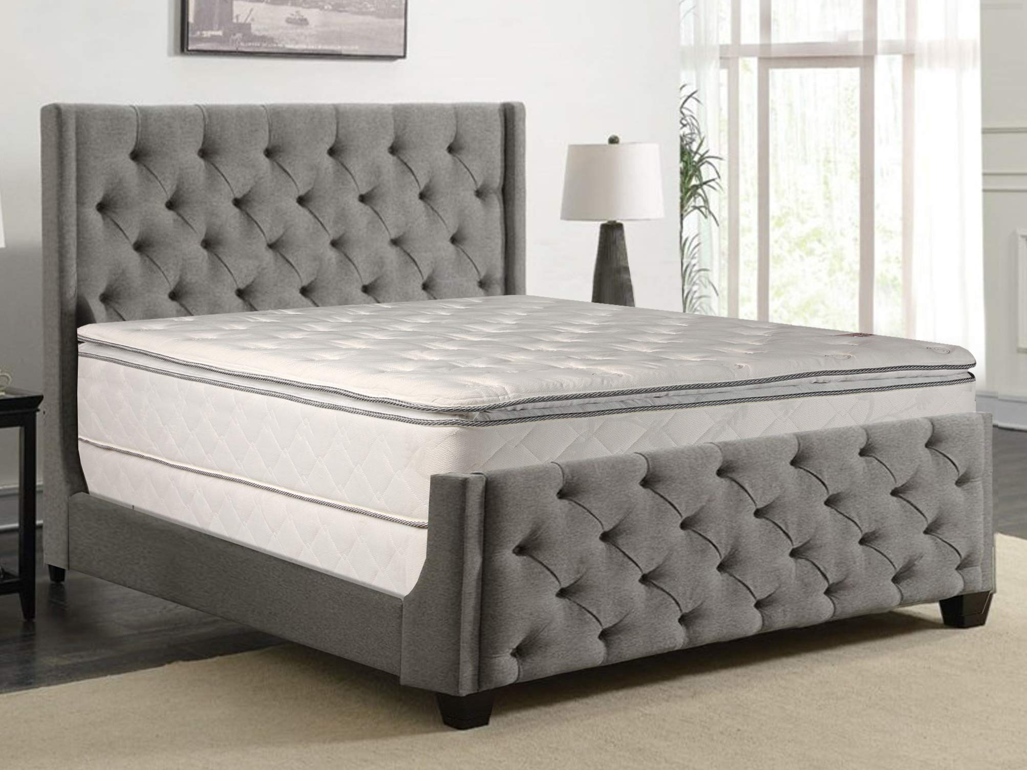 Greaton 301vF-3/8-3LP Fully Assembled 4-Inch Low Profile Wood BoxSpring/Foundation for Mattress with Frame 44 by Greaton