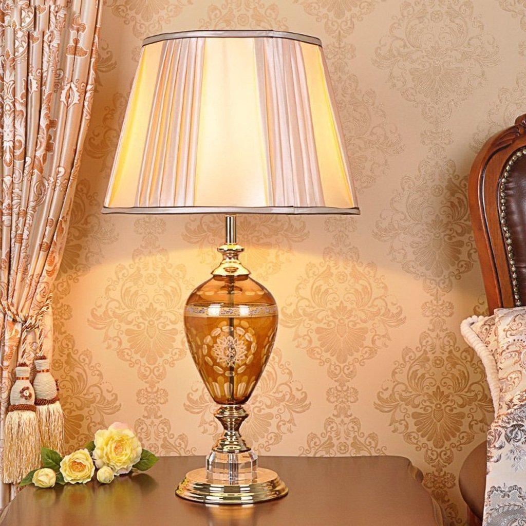 MLMH Studieren Crystal Light Bedroom Bedside Light Wohnzimmer Wohnzimmer Wohnzimmer Tischlampe Button Switch Tischleuchte Tischlampe B07HRNJT11 | Einfach zu bedienen  9edcb2