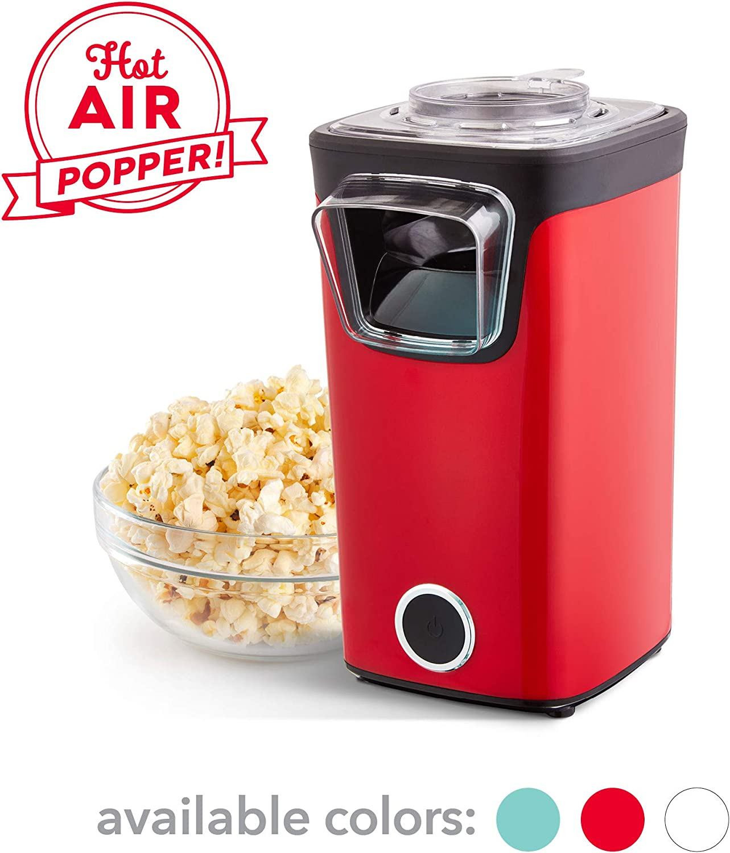 DASH DAPP155GBRD06 Turbo POP Popcorn Maker, 8 Cups, Red