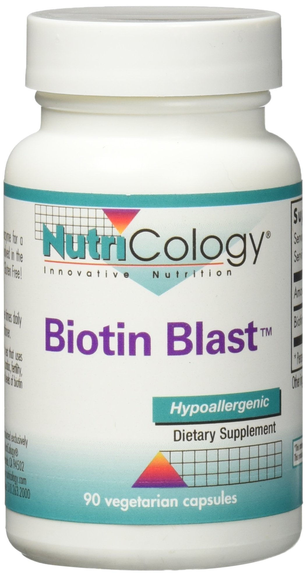 Nutricology Biotin Blast Capsules, 90 Count by Nutricology