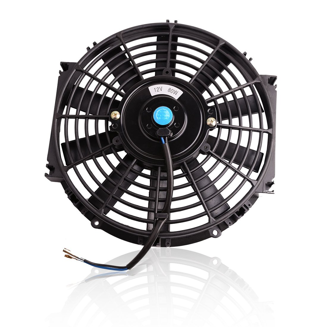 Universal 14 inch Slim Fan Push Pull Electric Radiator Cooling Fans 12V 80W Engine Fan with Mount Kit (Diameter 13.98 /14.76 Depth 2.76) AUTOSAVER88