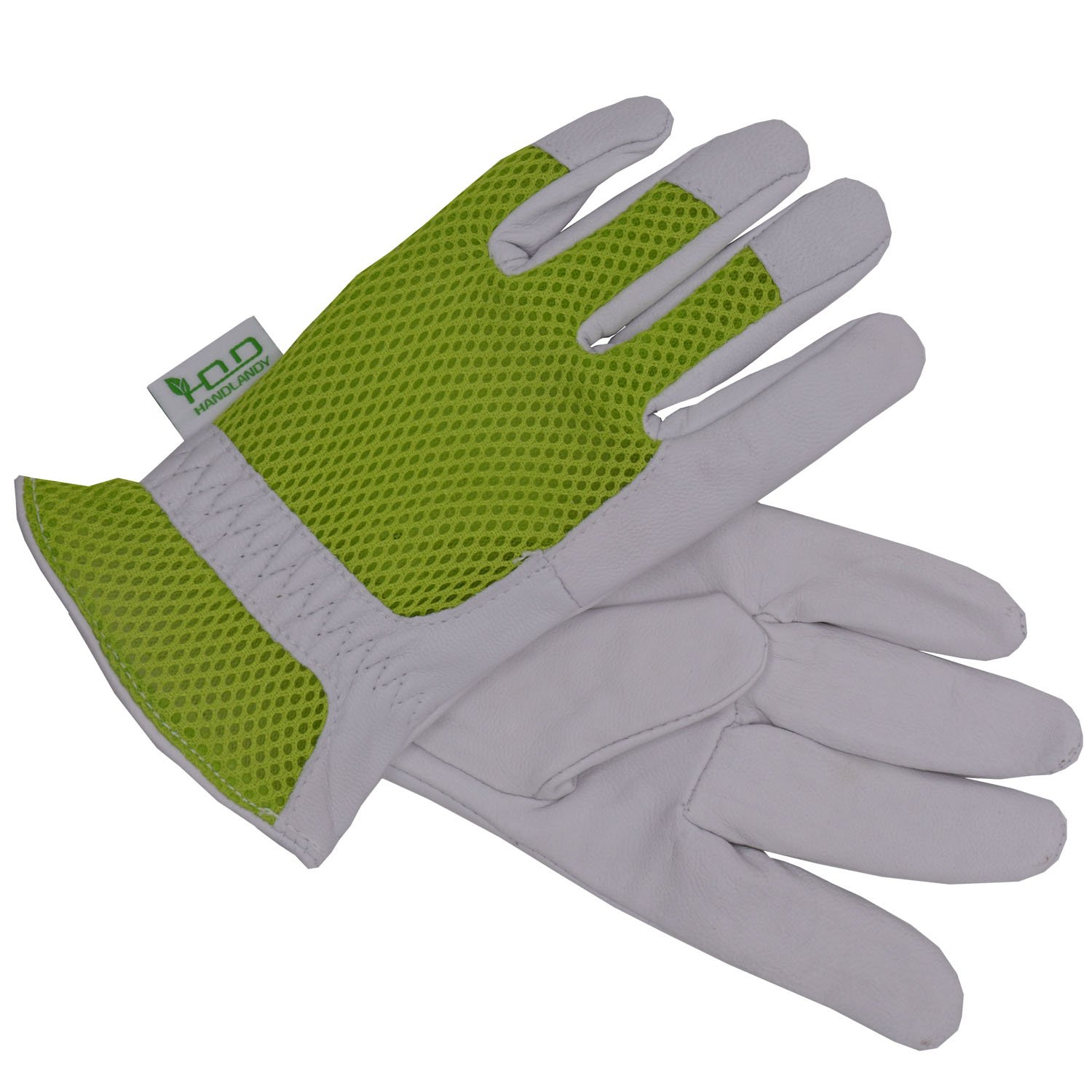 Goatskin Leather Gardening Gloves Women, 3D Mesh Comfort Fit- Improves Dexterity and Breathability Design, Scratch Resistance Garden Working Gloves for Vegetable or Pruning Roses (Small) by HANDLANDY (Image #2)