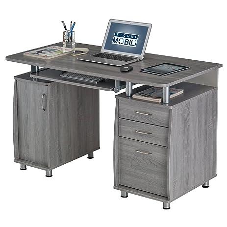 amazon.com: techni mobili complete workstation computer desk with ... - Mobili Tv Amazon