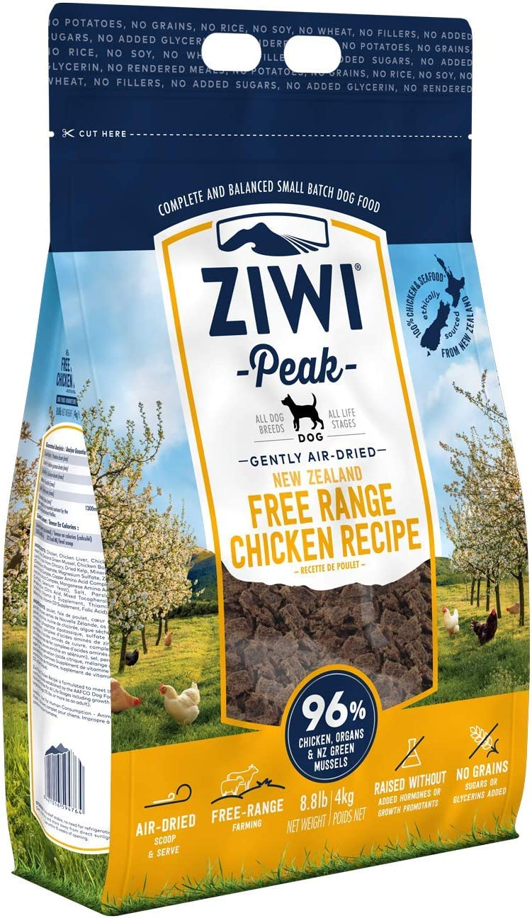 ZIWI Peak Air-Dried Dog Food – All Natural, High Protein, Grain Free & Limited Ingredient with Superfoods (Chicken, 8.8 lb)