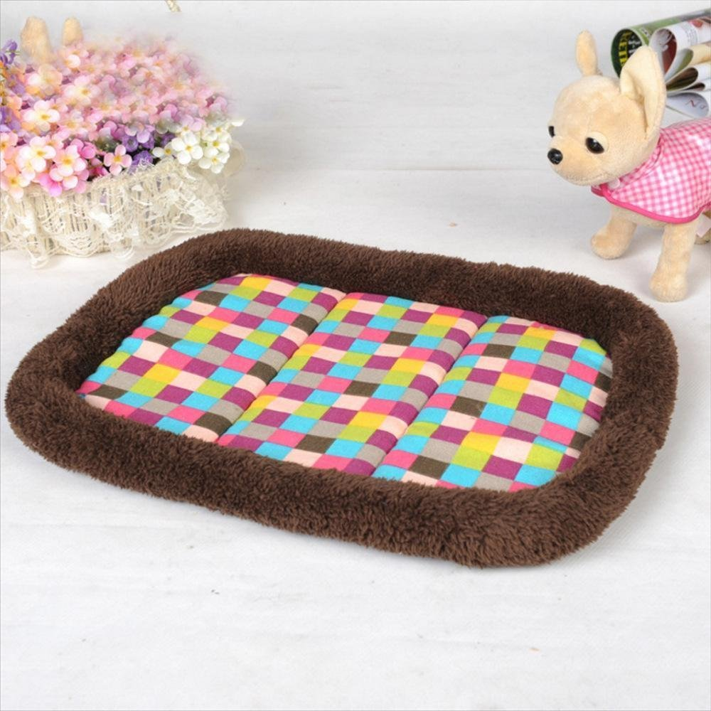 40304.5cm WUTOLUO Pet Bolster Dog Bed Comfort Kennel cushion Cute Soft dog mat (Size   40  30  4.5cm)