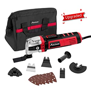 Oscillating Tool, Multifunctional Tool with 4.5°Oscillation Angle, 3.5-Amp and Variable Speeds, 13pcs Accessories Included, Avid Power MW146