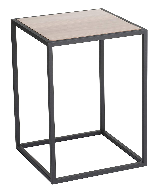 YAMAZAKI home Tower Square Coffee Table BK Space saving, One Size, Black