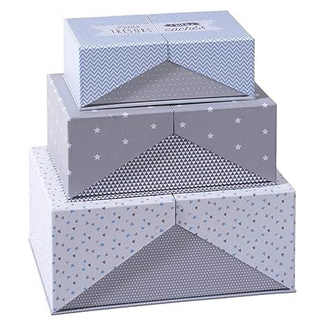 Atmosphera 3 Cajas para la conservación Surprise, almacenaje – Caja, cartón, almacenaje con
