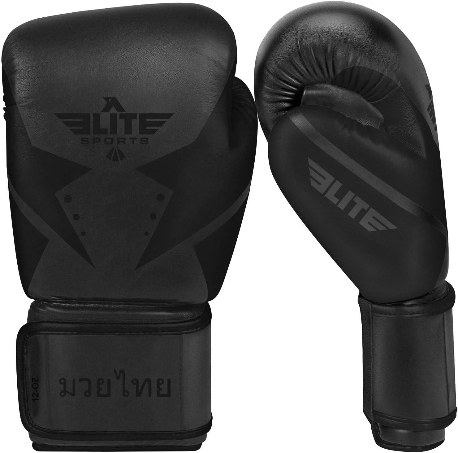 Elite Sports Muay Thai Gloves Men/'s Women/'s Best Kickboxing Pair of Breathable Gloves