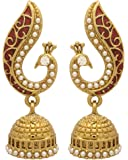 Voylla Traditional Gold Metal Earring Gift for Girl and Women