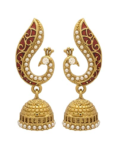 037ed1e807058c Buy Voylla Voylla Designer Gold Plated Drop Earrings for Women (Golden)  (8907275256816) Online at Low Prices in India